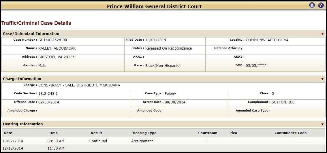 VA General District Court Case #2